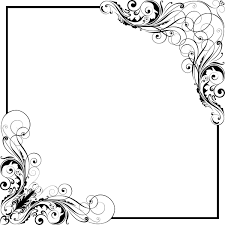 corner floral swirl ornaments with frame vector vector floral