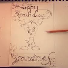 Sketch Birthday Card Grandma S Birthday Card Sketch By Deathangelreaper On Deviantart