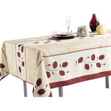 tablecloth for round table that seats 8 tablecloth beige red leaf stain resistant washable liquid spills