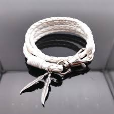 white leather bracelet images Fine jewelry vintage 12 constellations braided leather bracelet 12 jpg
