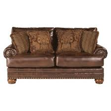Signature By Ashley Sofa by Chaling Durablend Loveseat Antique Signature Design By Ashley