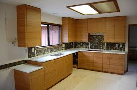 fascinating bamboo kitchen cabinets with red color kitchen