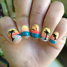 celebrate summer with these 42 palm tree nail designs 24