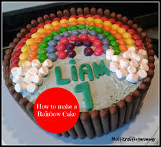 how to make a rainbow cake crafty kids at home