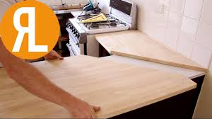 how to install a kitchen island how to install a countertop without removing the old one youtube