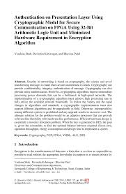 authentication on presentation layer using cryptographic model for
