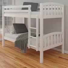 White Bunk Bed Frame Solid Wood Bunk Beds Modern Bunk Beds Design