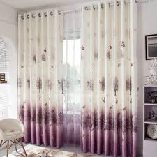 Curtains With Purple In Them Decorative Purple And Beige Linen Cotton Blend Living Room Curtains