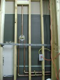 how to install plumbing how to finish a basement bathroom shower plumbing inside how to