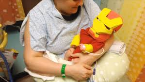 Preemie Halloween Costume Dad Turns Preemie Baby Iron Man U0027brave U0027 Video