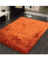 5 X7 Area Rug Don T Miss This Bargain Shag Solid Rust Area Rug 5 X 7 5x7