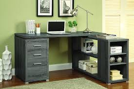 monarch specialties inc hollow core l shaped computer desk amazon com coaster 800518 home furnishings office desk weathered
