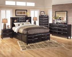furniture dark varnished iron wood low profile bed frame with