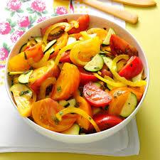 heirloom tomato u0026 zucchini salad recipe taste of home