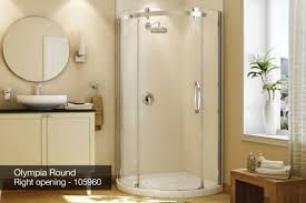 Maax Glass Shower Doors by Acrylic Shower Cubicle Round With Hinged Door Olympia Maax