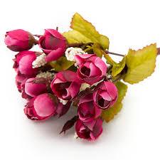 Rose Home Decor Aliexpress Com Buy 15 Heads 5 Forks 23cm Colorful Silk Flowers