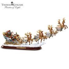 kinkade santas sleigh illuminated sculpture the