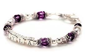 Childrens Bracelets Amazon Com Personalized Baby Childrens Bracelet February Birth