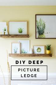 best 25 picture ledge ideas on pinterest diy wall shelves