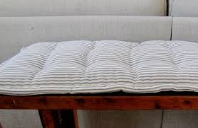 bench pad custom bench cushion ticking stripe window seat