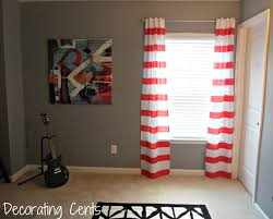 decorating cents striped curtains in the office