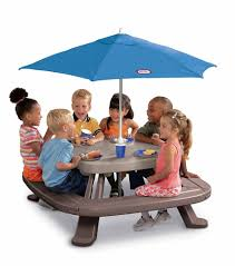 step 2 folding picnic table kids picnic table kit outdoor bench set play children umbrella