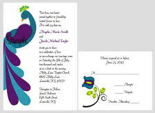 peacock wedding invitations peacock wedding invitations ebay