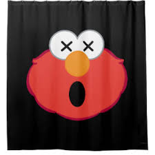 Elmo Bathroom Accessories Emoji Shower Curtains Zazzle