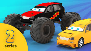 fire trucks monster truck stunt exciting educational cartoons for kids from bambo jambo