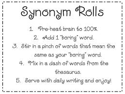 mrs frazier s fourth grade archive synonym rolls