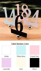 Laser Cut Table Numbers Laser Cut Table Number Sets Wedding Decorations
