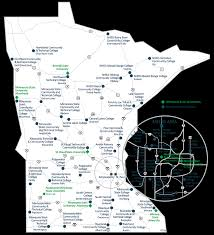 Map Of St Paul Mn Minnesota State Campuses