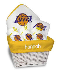 gift baskets los angeles personalized los angeles lakers medium gift basket nba baby gift
