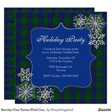 barclay clan tartan plaid custom christmas party card christmas