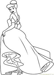 cinderella looking back coloring page free cinderella coloring