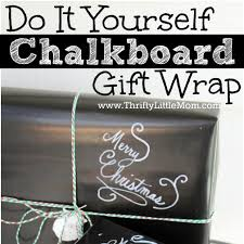 chalkboard wrapping paper do it yourself chalkboard gift wrap thrifty