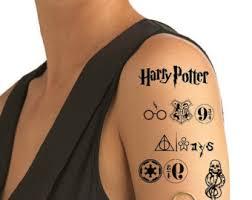 harry potter tattoo etsy