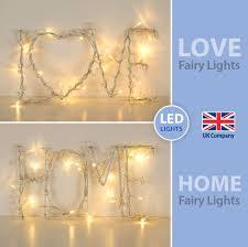 ebay led string lights cream love home word battery led sign fairy string l lights