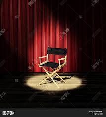 Curtains On A Stage Directors Chair On Stage Red Image U0026 Photo Bigstock