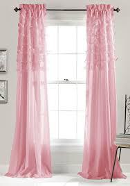 Girls Bedroom Window Treatments Amazon Com Lush Decor Avery Window Curtains 84 By 54 Inch Pink