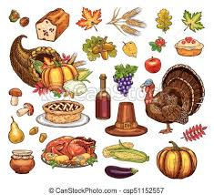 thanksgiving day isolated vector icons set thanksgiving