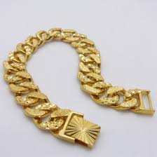 new arrival fashion 24k gp gold plated mens women discount mens 24k yellow gold bracelet 2017 mens 24k yellow gold