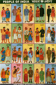Indian States People Of India Old Chart From Unknown Source India