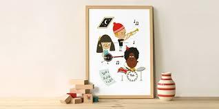 poster chambre fille enfants modèles la sélection mode et design pour les petits by