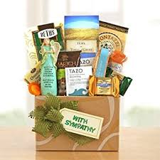 sympathy gift baskets thoughts prayers sympathy gift basket gourmet