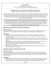 good marketing resume sample a professional resume template for a marketing specialist want it