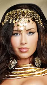 gold headband coin crown headband goddess headpiece