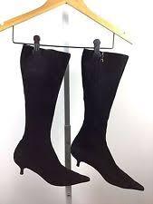 womens boots kitten heel kitten heel suede prada s boots ebay