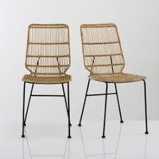 chaises en osier lot chaises rotin la redoute