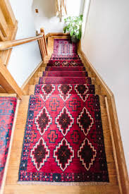 Vintage Stair Rods by Mix U0026 Matched Patterns Diy Stair Runner Made With Vintage Rugs